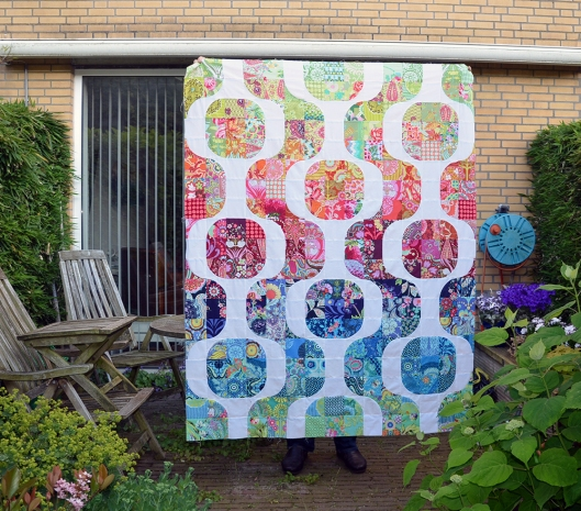 Amy Butler Mod Pop quilt top