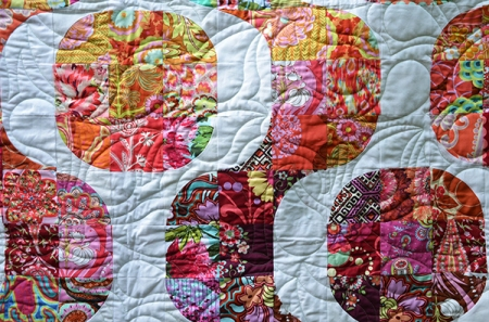Amy butler Mod Pop quilt detail