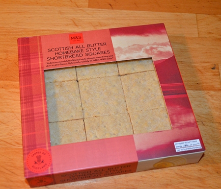 Scottish shortbread squares